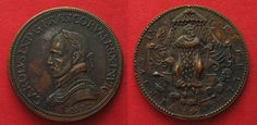 1572 Frankreich - Medaillen CHARLES IX Medal 1572 ST. BARTHOLOME'S DAY MASSACRE bronze 36mm XF # 91309 vz Bronze, Coin Collecting, Coins, Personalized Items, France