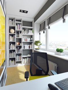 This crisp home décor, from interior design studio Polinova Paul, harbors not one, but two secretive workspaces that would keep you hidden away from the hubbub