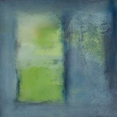 JanKinslowe_14  (abstracts)  /      SPRING PORTAL/  oil & wax on 12 x 12 panel