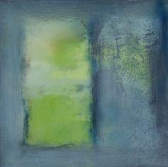 JanKinslowe    SPRING PORTAL   oil & wax on 12 x 12 panel
