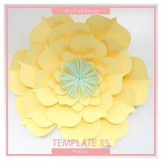 PDF Paper Flower, Paper Flower Template, Big Paper Flower, Giant Paper Flower Template, Flower Template, DIY, Base and Instruction Including by LsCraftDesign on Etsy