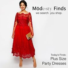 modest plus size clothing | Formal plus size dress with sleeves | Follow Mode-sty for stylish ... #Plussizepartydress