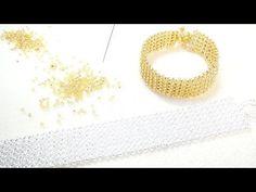 【ハンドメイド】ビーズリングの作り方 竹ビーズとシードビーズを使ったスクエアステッチのリング ビーズステッチ - YouTube