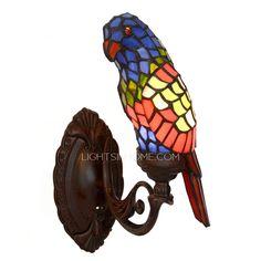 Parrot Shaped Tiffany E12/E14 Unique Wall Sconces