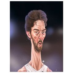 "dani sanz en Instagram: """"Pau Gasol"" #caricature #illustration #portrait #caricatura #digitalpainting #painting #design #drawing #draw #doodle #artwork #basket #eurobasket2015 #paugasol #sport #drawing #illustrator #danisanzpuntoes @paugasol"""