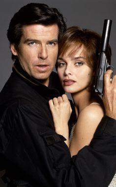Pierce Brosnan & Izabella Scorupco in Goldeneye from James Bond: Behind the Scenes | E! Online