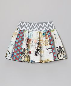 This White Euro Tour Skirt - Toddler & Girls by Million Polkadots is perfect! #zulilyfinds