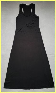 69ac3d8b86e00 Thakoon Black Cotton Jersey Tank Racerback Tunic Cover Up Summer Sun Long  Casual Maxi Dress Size. Tradesy