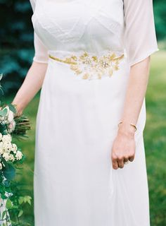 Soft Chiffon and Lace Pieced Wedding Gown with gold beaded belt. Keyhole back and long chiffon veil. Custom couture by designer Rachel Alvia of Avail & Company Austin Gros Rose Gold Wedding Dress, Pink And Gold Wedding, Gold Wedding Theme, Custom Wedding Dress, Country Wedding Dresses, Designer Wedding Dresses, Wedding Gowns, Lace Wedding, Chiffon Gown