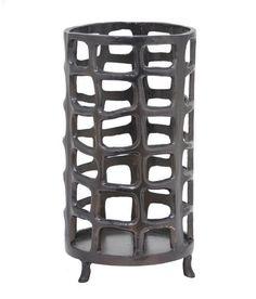 "HRT-82754 Benzara 12.5"" Metal Aluminium Lantern"