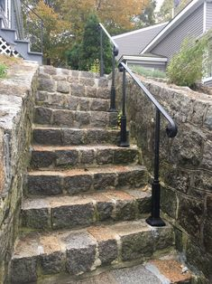 4 FT Wrought Iron Handrail Step rail Stair rail with Decorative Posts Made in the USA - ferforge Exterior Stair Railing, Outdoor Stair Railing, Iron Handrails, Wrought Iron Stair Railing, Glass Railing, Porch Handrails, Iron Staircase, Staircases, Outside Stairs