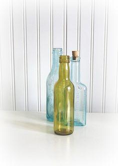 one bottle, two bottle ... green bottle, blue bottle