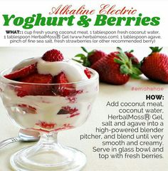 Alkaline yogurt