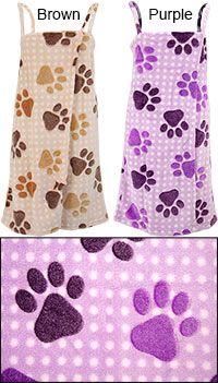 SuperCozy™ Paw Print Bath Wrap at The Animal Rescue Site