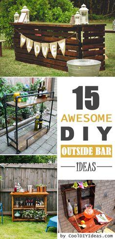 15 Awesome DIY Outside Bar Ideas - #OutsideBars