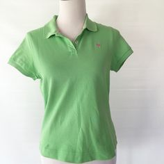 LILLY PULITZER RESORT FIT POLO LIME GREEN LILLY PULITZER RESORT FIT POLO SIZE LARGE, SORRY NO TRADES. Lilly Pulitzer Tops