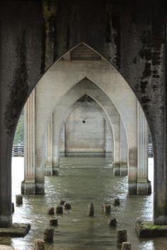 Under the Florence Oregon Bridge  by: dawn-rene