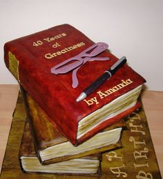 Stacked Books Cake with how-to tips