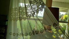 Check out this item in my Etsy shop https://www.etsy.com/listing/560007427/vintage-lace-curtain-for-one-only-sheer