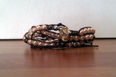 Purple Hemp Thread with Silverized & Pearl Beads CHAN by AnABazaar, $14.99