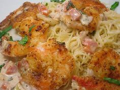 Shrimp Scampi with Angel Hair Pasta: A version similar to the Cheesecake Factory