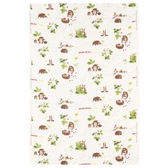 Hedgehog and Strawberry Fabric--7.99/yd. Called VANDRING IGELKOTT Fabric from IKEA