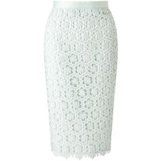 Miss Selfridge Mint Lace Pencil Skirt (€18) ❤ liked on Polyvore featuring skirts, bottoms, mint green, knee length pencil skirt, miss selfridge, mint green lace skirt, mint green skirt and mint green pencil skirt