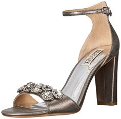 Badgley Mischka Women's Lennox II Dress Sandal, Pewter, 11 M US. Bridal. Special occasion. Evening.