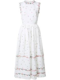 Emilia Wickstead floral print flared dress