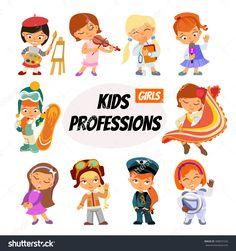 children little girl vector - Pesquisa Google