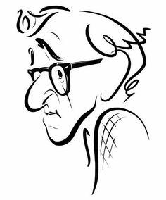 [ Woody Allen ] artist: John Kascht website: http://www.johnkascht.com/