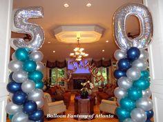 Columns & Name Arch for 50th BD Celebration.