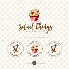 Ideas wedding design logo initials names Bakery Branding, Branding Kit, Business Branding, Food Graphic Design, Logo Design, Brand Design, Blog Logo, Ideas Para Logos, Bakery Names