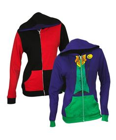 Take a look at this Harley Quinn & Joker Reversible Zip-Up Hoodie - Juniors today!