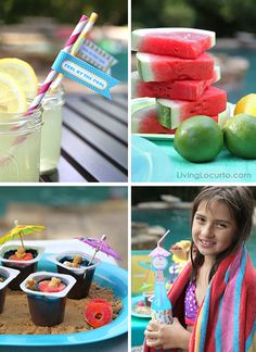 Simple and fun Pool Party Ideas by Amy Locurto LivingLocurto.com #pool