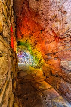 ~~Rainbow Hall | This comes to you from Rock City Gardens atop Lookout Mountain, where you can see into seven states, St. Elmo, Chattanooga, Tennessee | by Kay Gaensler~~
