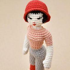 Miette the fashion doll amigurumi pattern by StuffTheBody