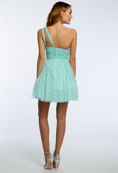 Illusion One Shoulder Short Dress #camillelavie #CLVprom