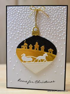 JanB Handmade Cards Atelier: Sleigh Ride Project No. 2 & Video No. 100