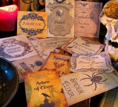 12+Halloween+Potion+Bottle+Labels++One+of+a+Kind+Designs++by+pbleu,+$12.99