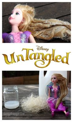 How to untangle dolls hair. ~ Danya Banya