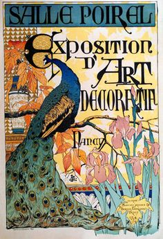 Art Nouveau Poster - Poster for an art exhibition in Nancy, France  c.1894