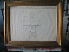 1950s drawing of a table design reframed