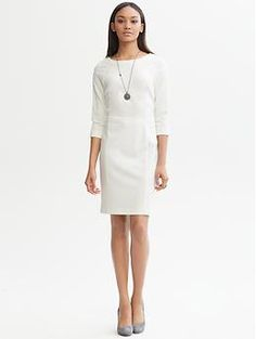 Ponté knit dress | Banana Republic - this might be a little too casual, but it looks cute.