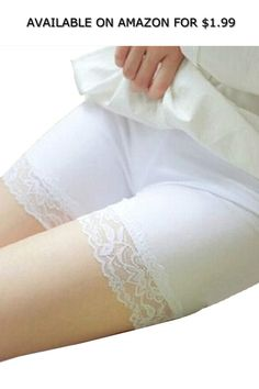c65b8fc242 Women s Lace Safety Underwear Anti-Expose Security Boxer Brief Under Dress  Shorts ◇ AVAILABLE ON AMAZON FOR   1.99 ◇ Material  Polyester