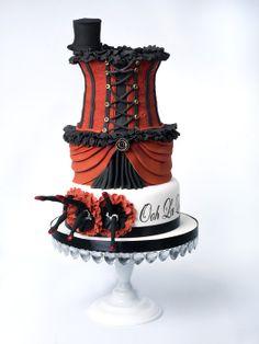 Paris Burlesque 3 can-can dancers cake Crazy Cakes, Crazy Wedding Cakes, Fancy Cakes, Pretty Cakes, Beautiful Cakes, Amazing Cakes, Unique Cakes, Creative Cakes, Creative Ideas