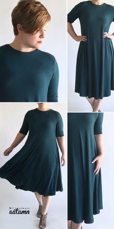 Dress Sewing Patterns, Sewing Patterns Free, Free Sewing, Clothing Patterns, Pattern Sewing, Easy Dress Pattern, Free Pattern, Crochet Patterns, Skirt Patterns