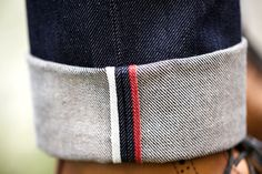 Red, white and blue is ALWAYS a winning combination... and then as an inside seam on a pair of turn up denim - perfect!
