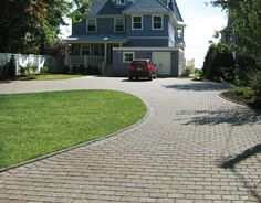 Driveway using EP Henry ECO Pavers, Dakota Blend