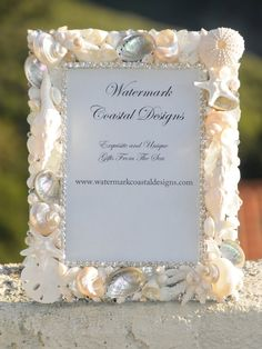 Ocean's Brilliance Swarovski Crystal and Seashell Picture Frame. $129.00, via Etsy.